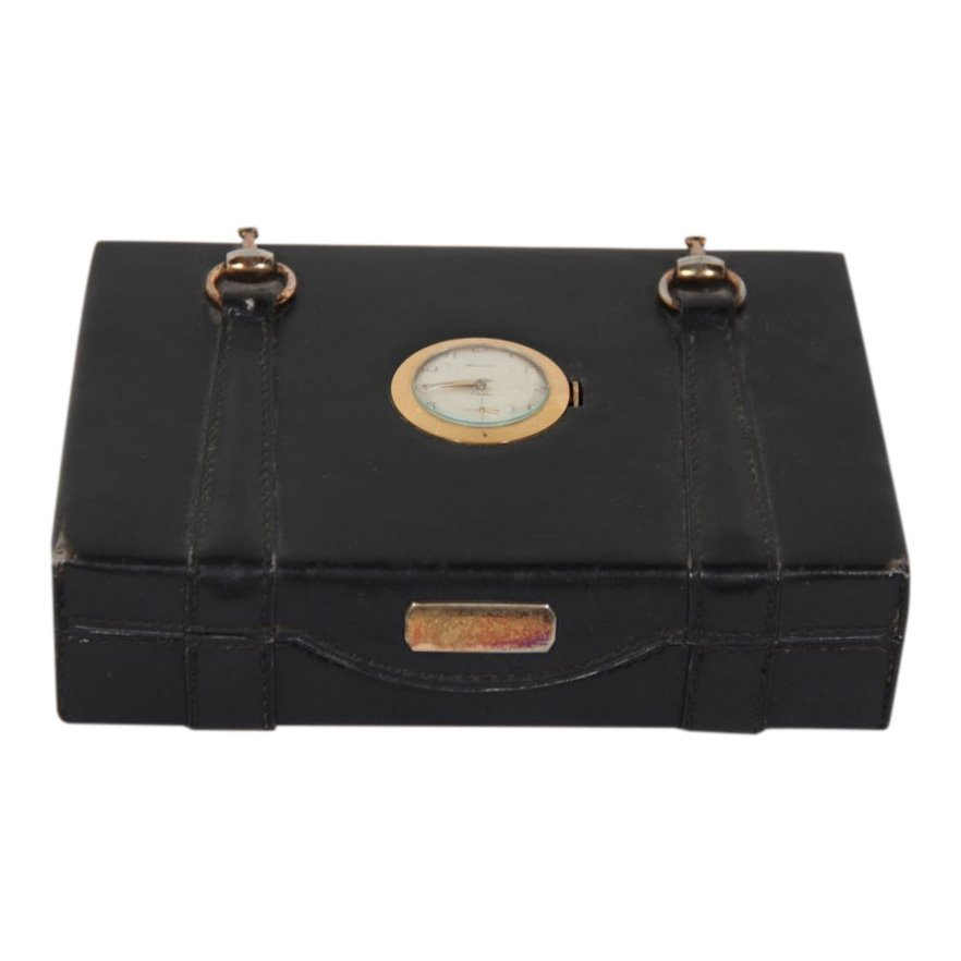 Rare Gucci Leather Horsebit Jewelry Box With Watch