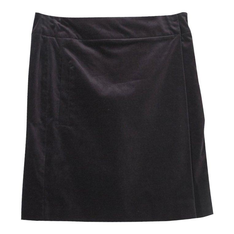 Gucci Italian Black Velvet Wrap Style Pencil Skirt