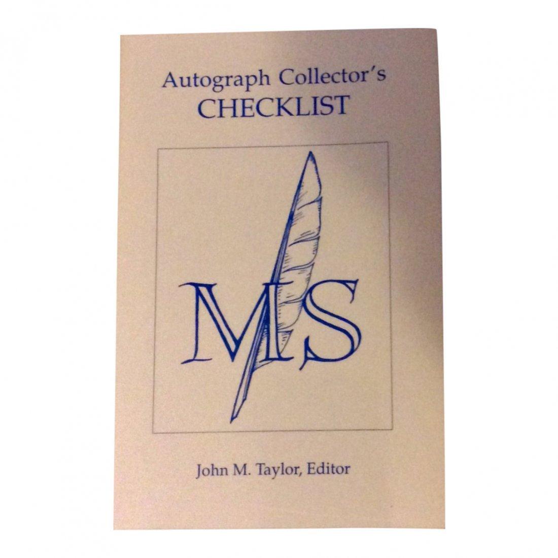 Autograph Collector's Checklist, 1990