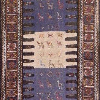 Semi-Antique Persian Killim Rug, 3x7