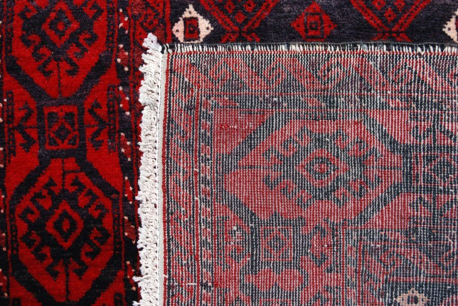 Rare Finely Knotted Persian Turkman Rug, 4x6 - 4