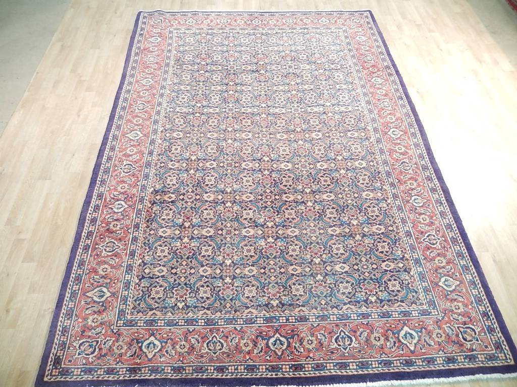 Faded Colors Persian Tabriz Mahi Rug, 7x10 - 3