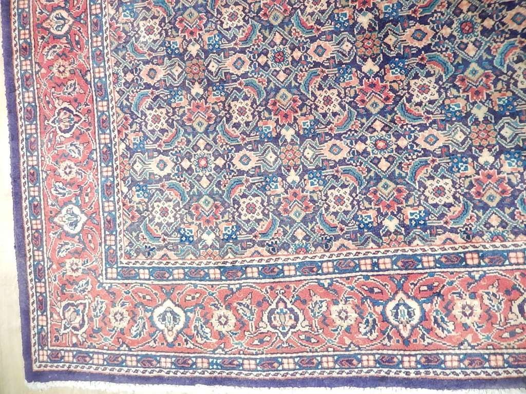Faded Colors Persian Tabriz Mahi Rug, 7x10 - 4