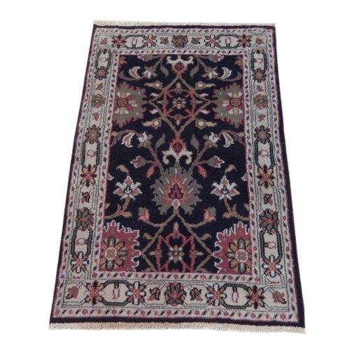 Black Traditional Persian Mahal Area Rug, 4x6