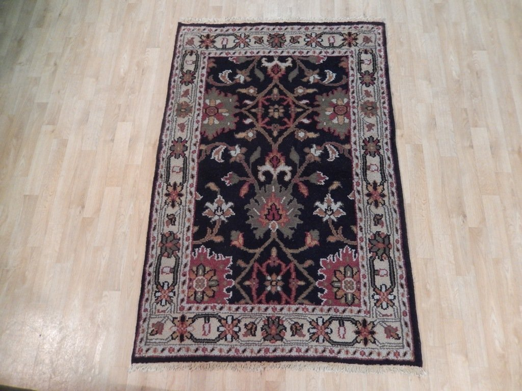 Black Traditional Persian Mahal Area Rug, 4x6 - 2
