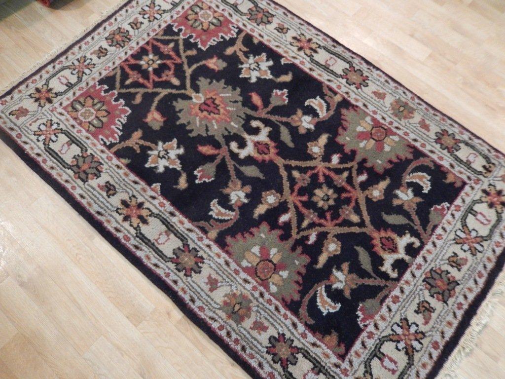 Black Traditional Persian Mahal Area Rug, 4x6 - 3