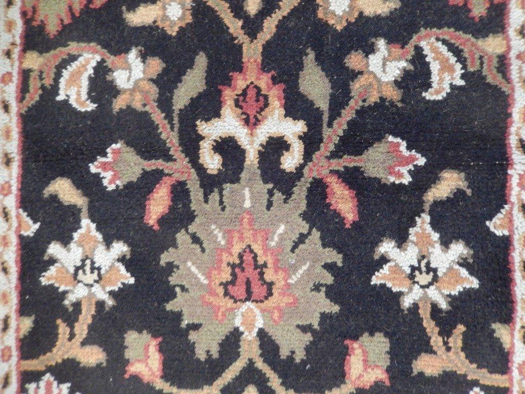 Black Traditional Persian Mahal Area Rug, 4x6 - 4
