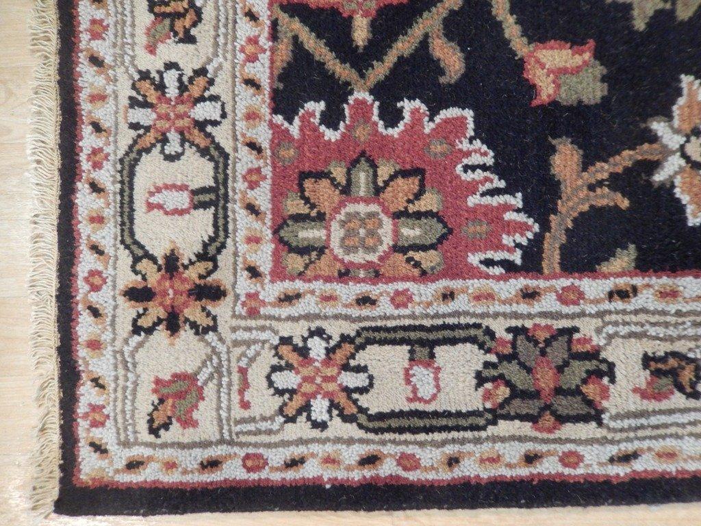 Black Traditional Persian Mahal Area Rug, 4x6 - 5
