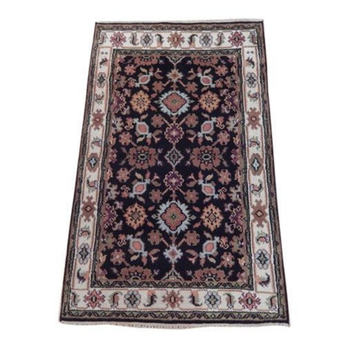 Mahal Wool Traditional Floral Design Rug, 4x6