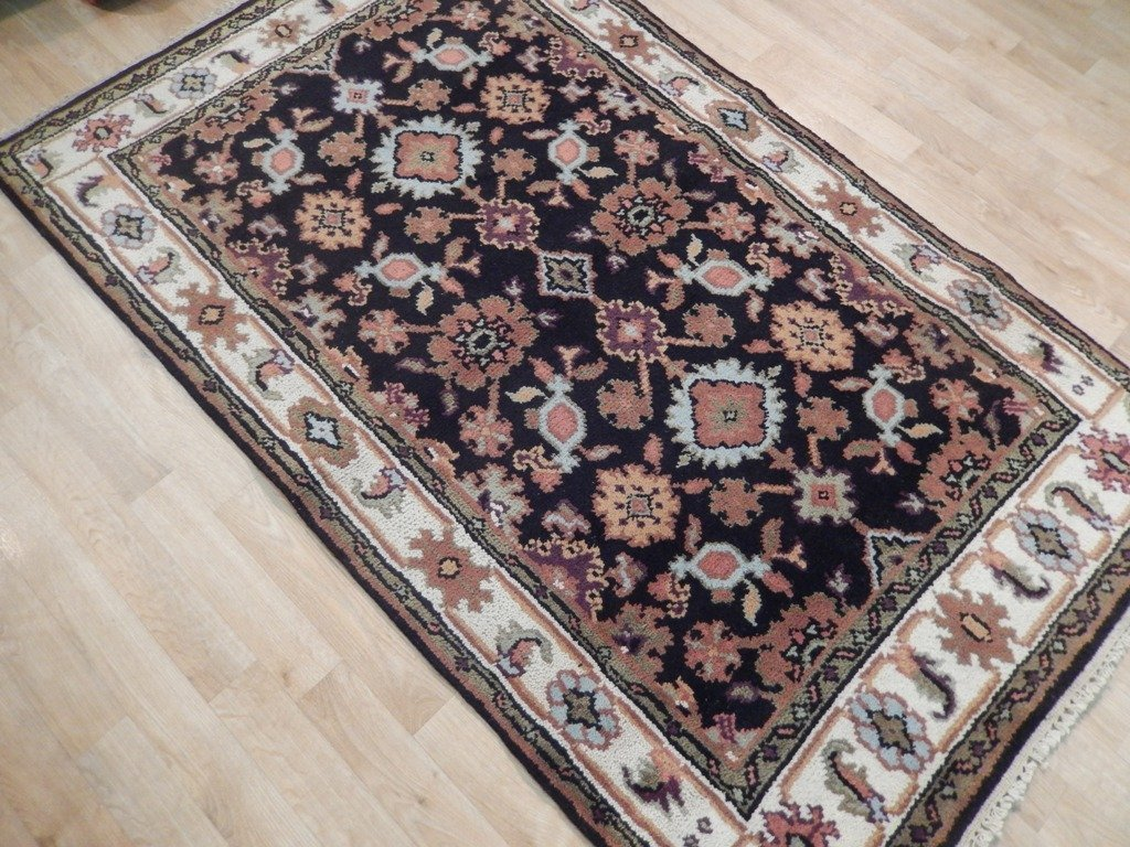 Mahal Wool Traditional Floral Design Rug, 4x6 - 3