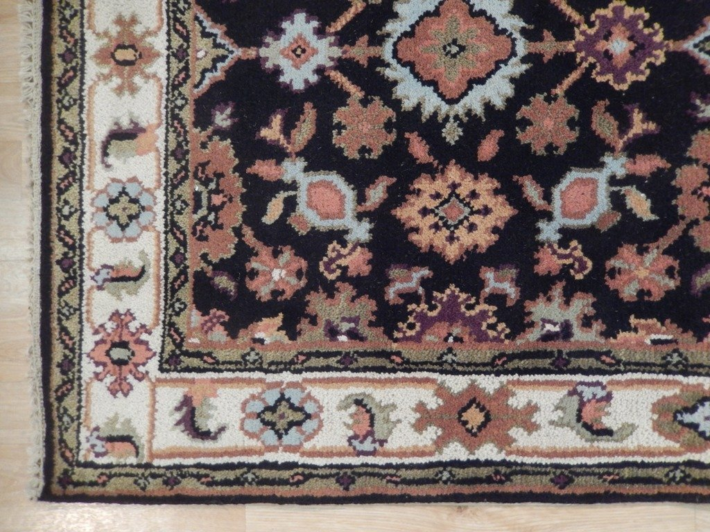 Mahal Wool Traditional Floral Design Rug, 4x6 - 5