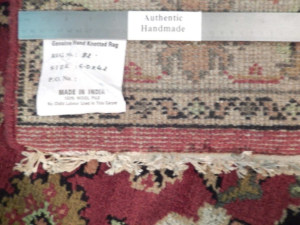 Mahal Traditional Wool Area Rug, 4x6 - 6