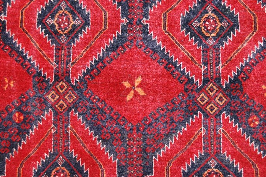 Symmetrical Design Persian Balooch Rug, 3x7 - 3