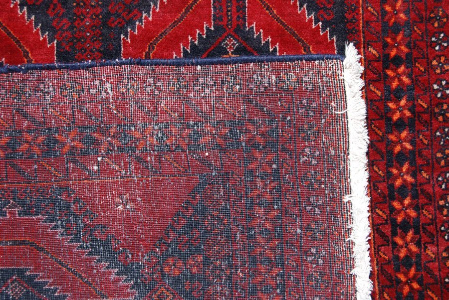Symmetrical Design Persian Balooch Rug, 3x7 - 4