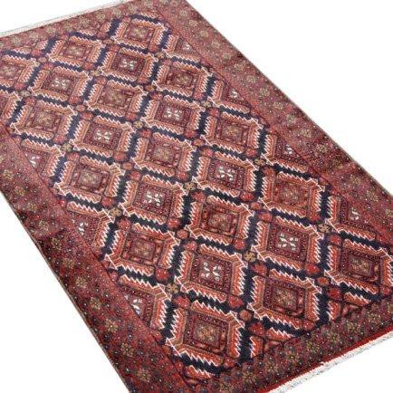 Symmetrical Design Persian Balooch Rug, 4x7