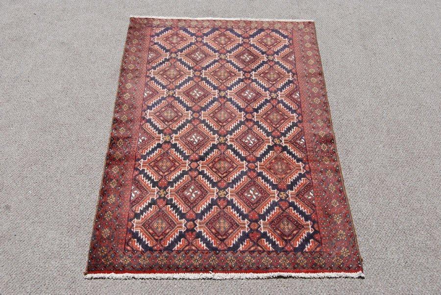 Symmetrical Design Persian Balooch Rug, 4x7 - 2