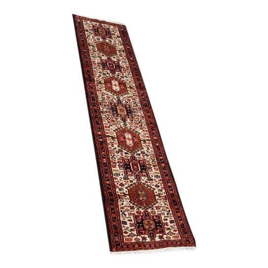Rare Semi-Antique Persian Karajeh Runner Rug, 2x10