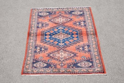 Authentic Handmade Persian Veese Rug, 4x5 - 2