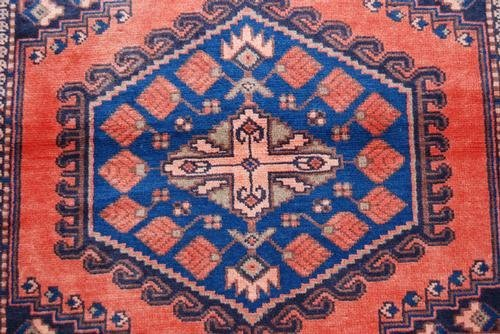 Authentic Handmade Persian Veese Rug, 4x5 - 3
