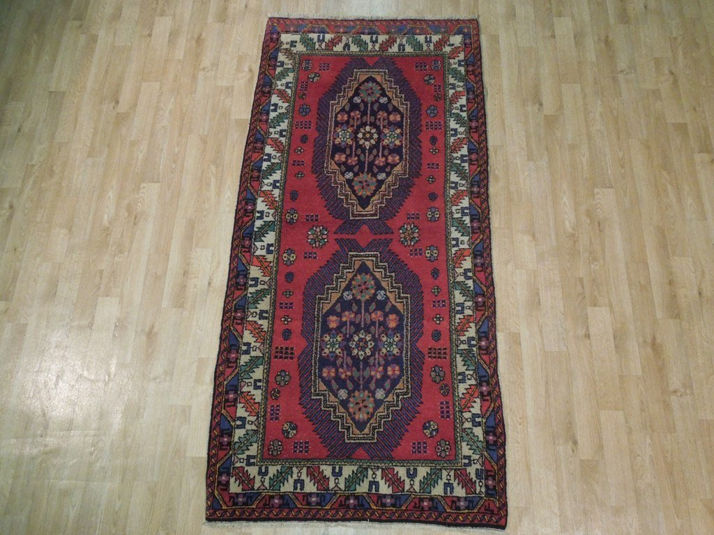 Semi-Antique Northwest Persian Rug, 3x7 - 2