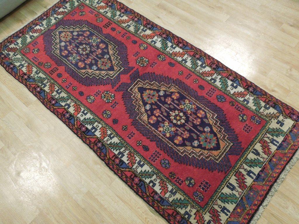Semi-Antique Northwest Persian Rug, 3x7 - 3