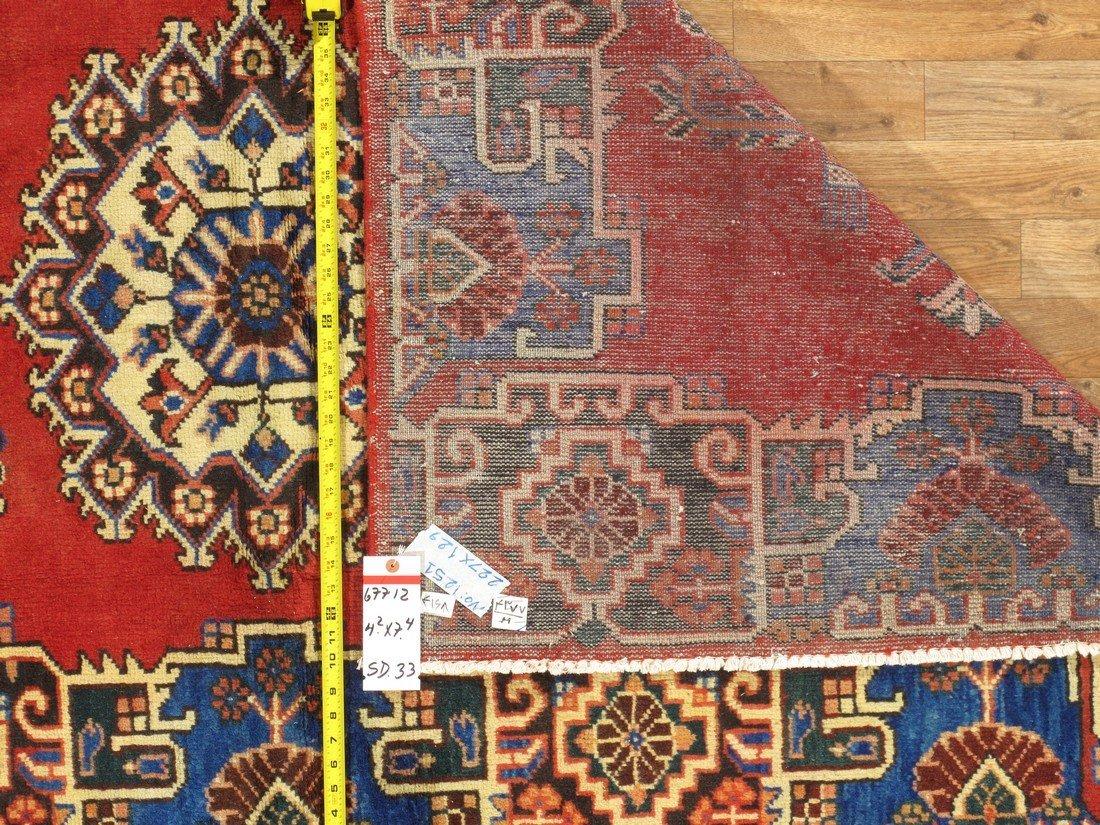Rare Tabriz Hand Knotted Area Rug, 4x7 - 6