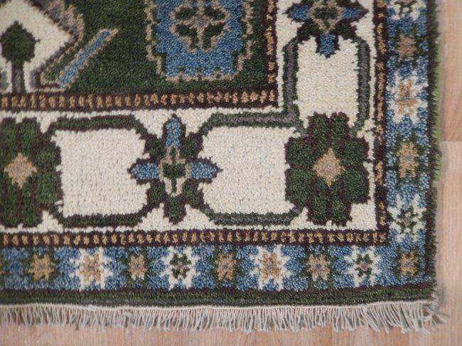Green Traditional Kazak Geometric Rug, 3x5 - 5