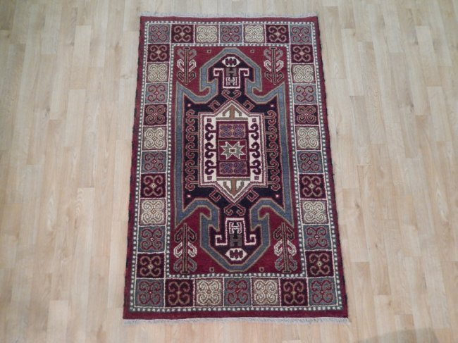 Eagle Kazak Traditional Geometric Design Rug, 3x5 - 2