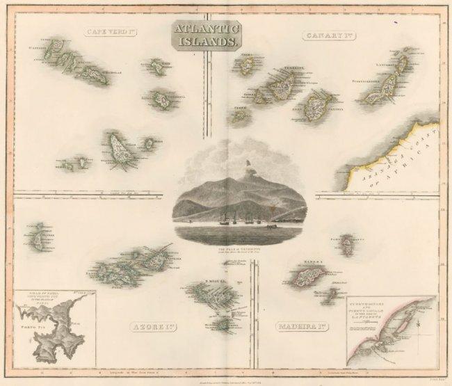 Atlantic Islands. The New General Atlas. John Thomson.
