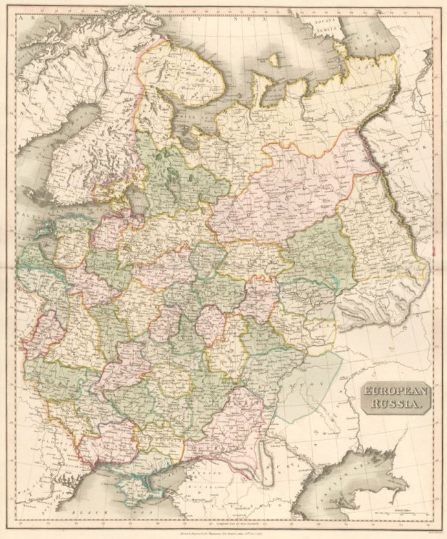 European Russia. The New General Atlas. John Thomson.
