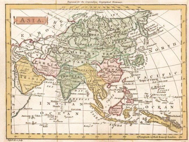 Map of Asia. J. Russell.