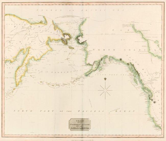 North Passage between Asia & America. John Thomson.