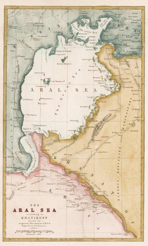The Aral Sea according to Khanikoff. Augustus Petermann
