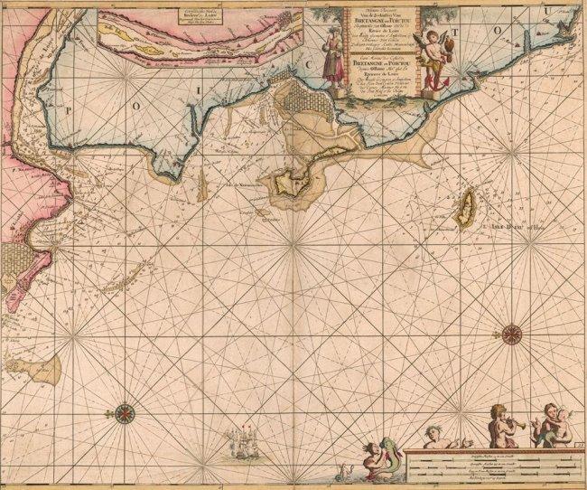 Early Sea Chart for Triangulating. Johannes Keulen