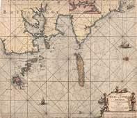 Early Sea Chart for Triangulating Johannes Keulen