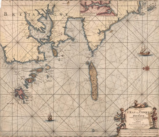 Early Sea Chart for Triangulating. Johannes Keulen
