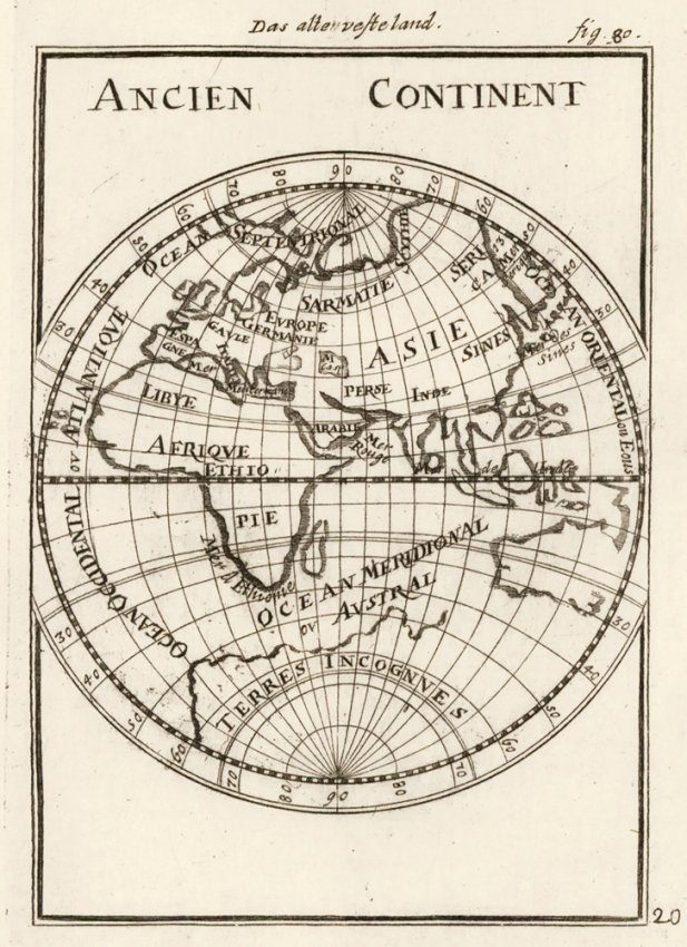 Ancient Geography, Ocean & Sea. Allain Manesson Mallet.