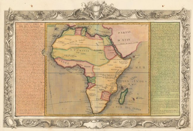 Islands, Capes and Ports in the Sea of Africa. Clouet.