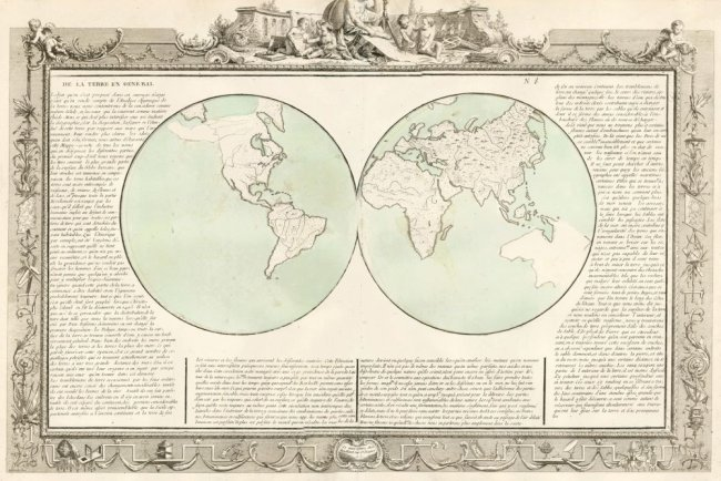 The Earth. Geographe Moderne. Clouet.