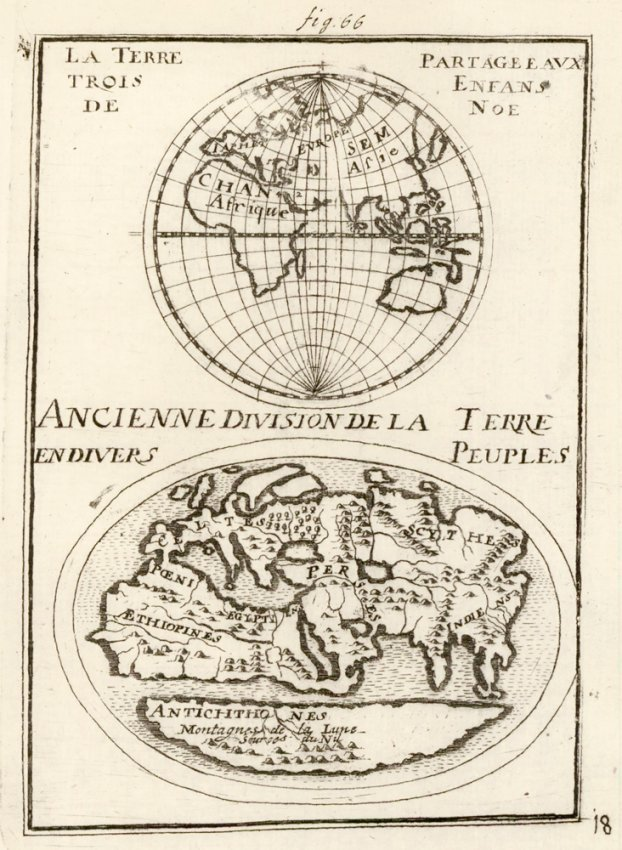 Ancient Earth Divisions. Allain Manesson Mallet
