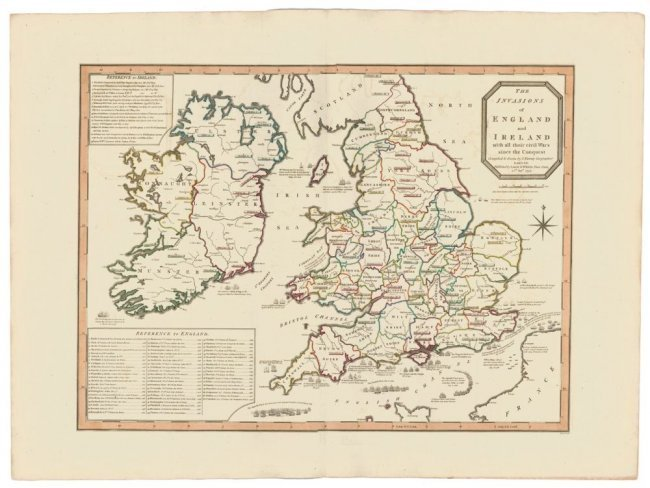 Invasion of England and Wales. Thomas Kitchin