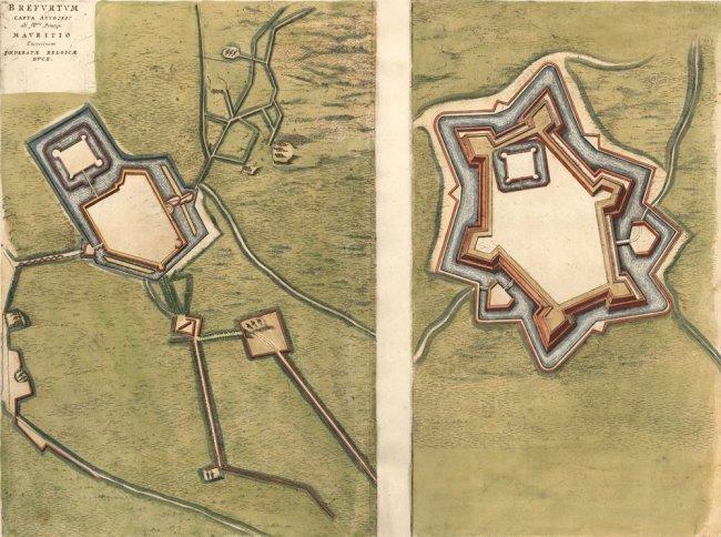 1597 Siege of Bredvoort. J. Blaeu.