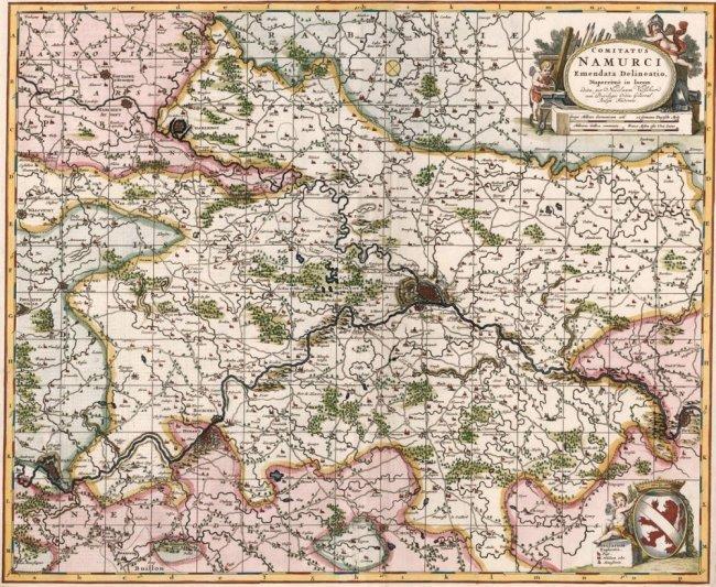 Namur County, Belgium. Nicolas Visscher.