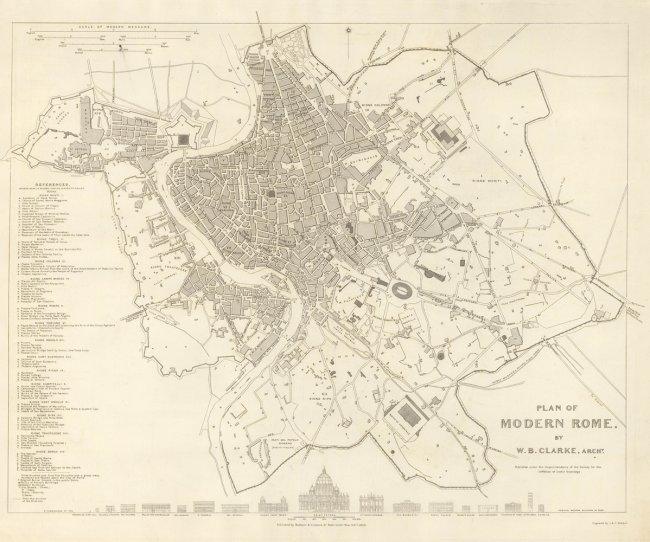 Plan of Modern Rome. W. B. Clarke, J. Walker, C.