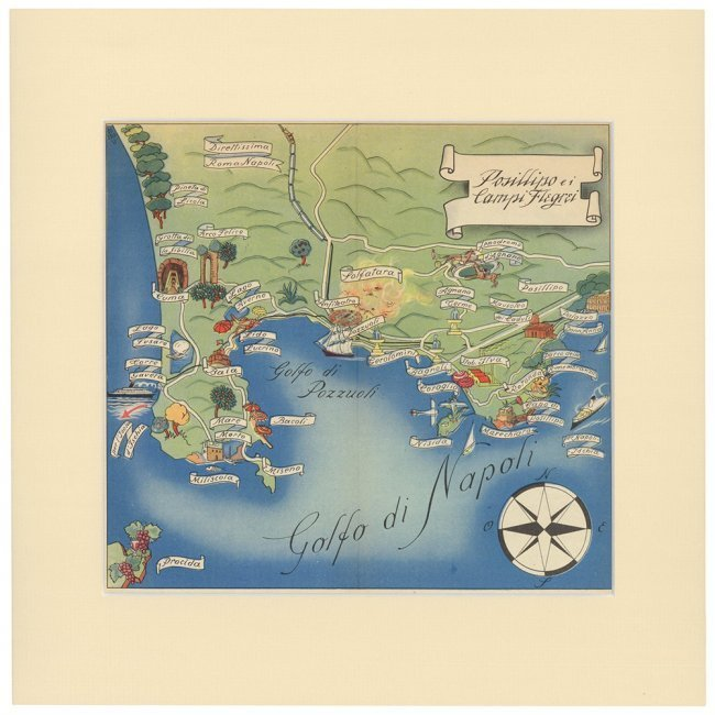 Golfo di Napoli. Italian School