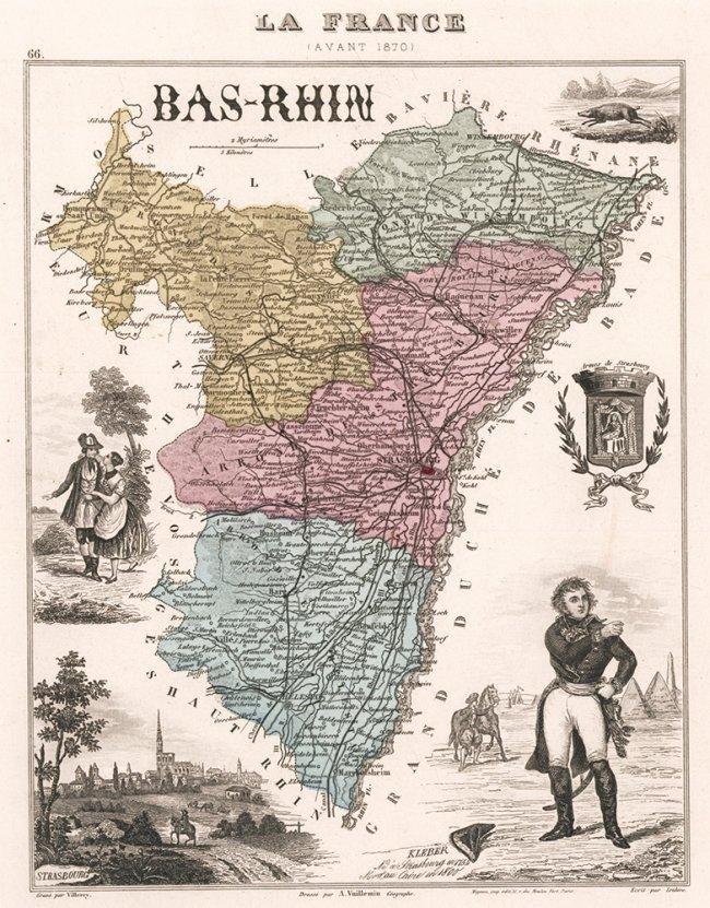Bas-Rhin, France et ses colonies. Alexandre Vuillemin