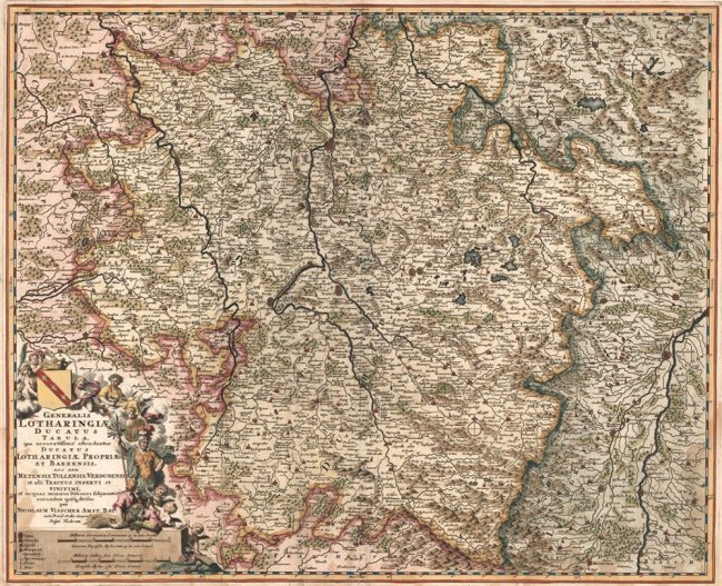 Generalis Lotharingiae Ducatus Tabula. Nicolas Visscher