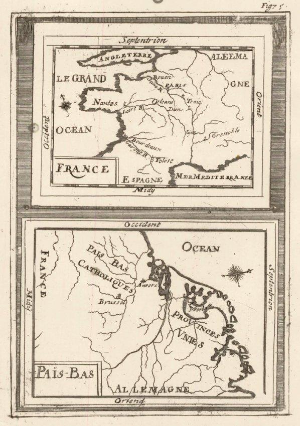 Map Orientation, France & Germany. Mallet.