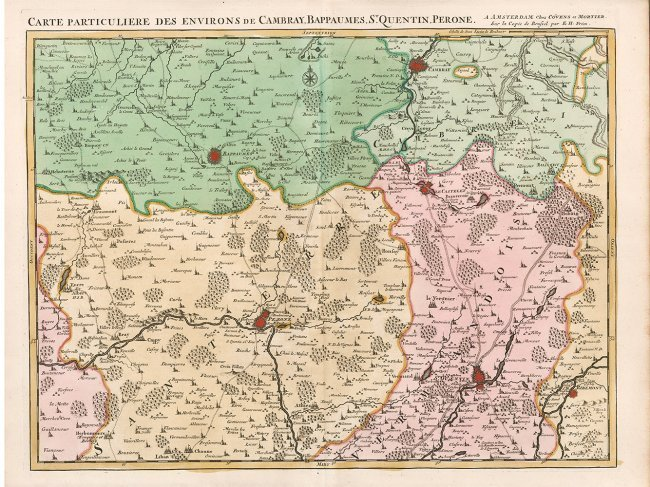 Environs De Cambray, Bappaumes, St. Quentin, Perone