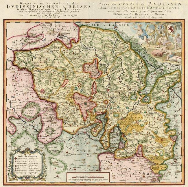 Upper Lusatia. Johann Baptiste Homann.